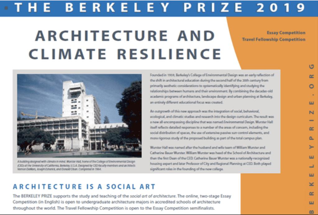 International Berkeley Undergrad Reward for Style Quality 2019 Essay Contest ($25,000 USD)