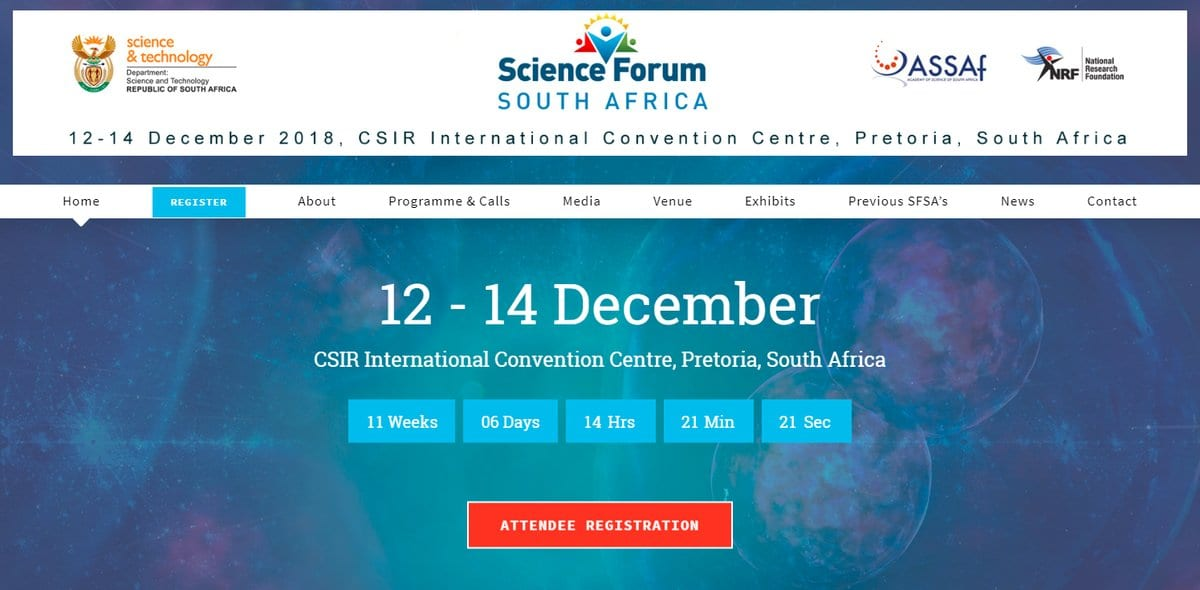 Media Fellowships for African-based Journalists to attend Science Discussion board South Africa (SFSA) 2018