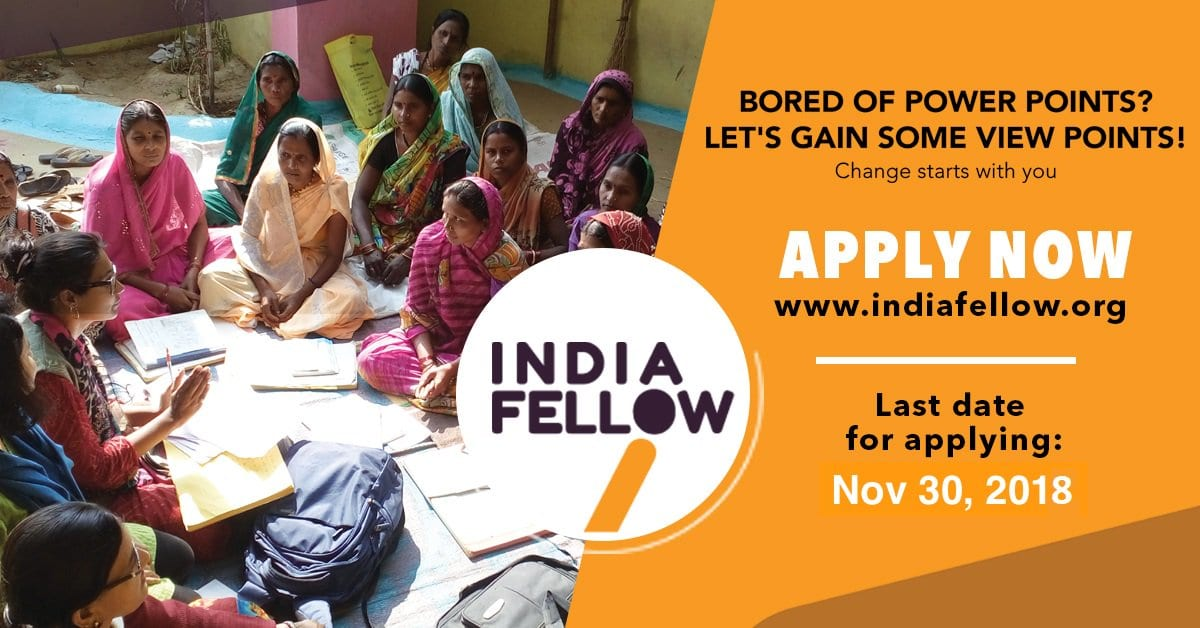 India Fellow Social Management Program 2019 for Young Indians