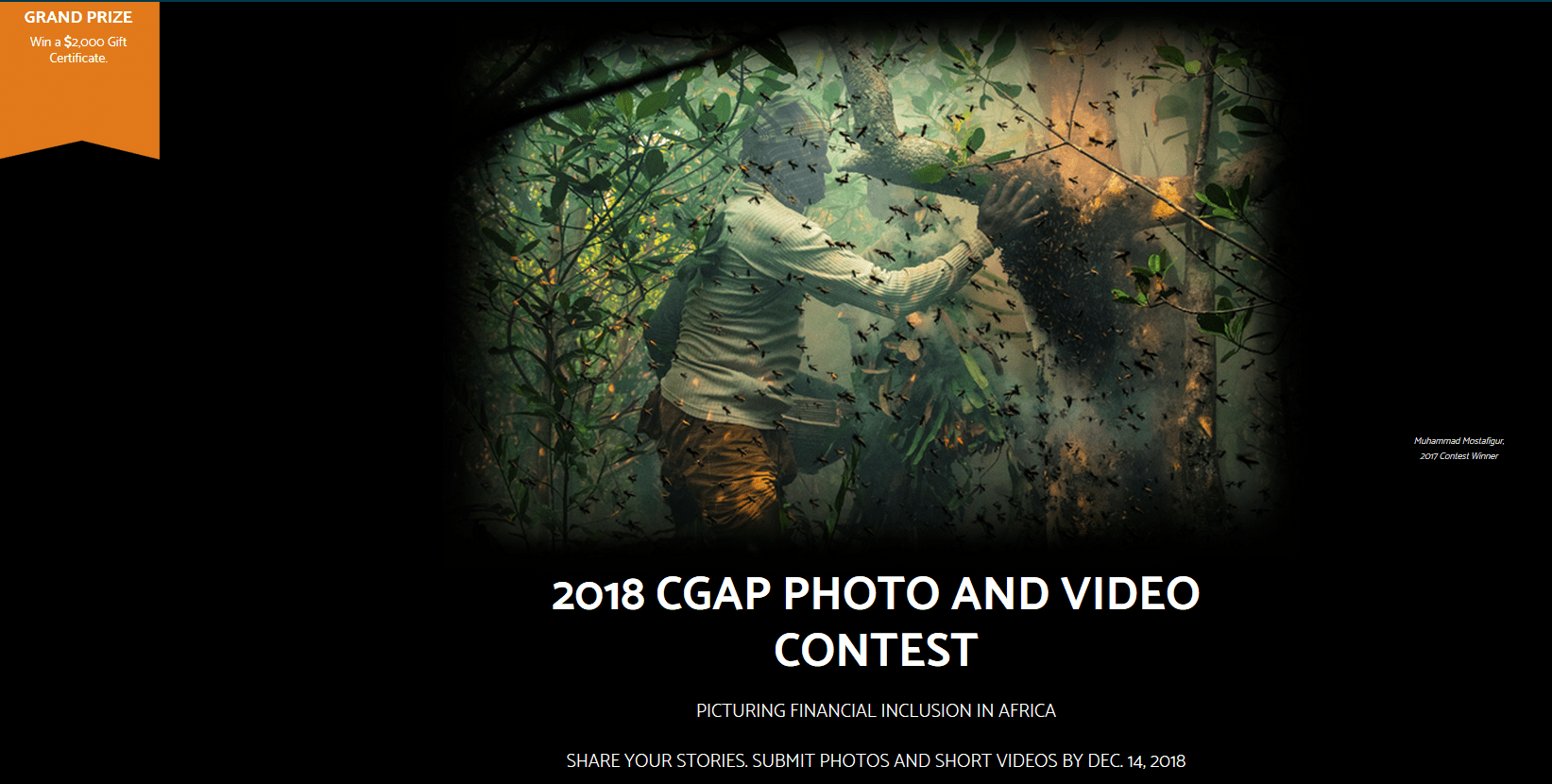 Consultative Group to Help the Poor (CGAP) 13 th yearly Image and Video Contest 2018: Picturing Financial Addition in Africa (Win a 2,000 Present Certificate)