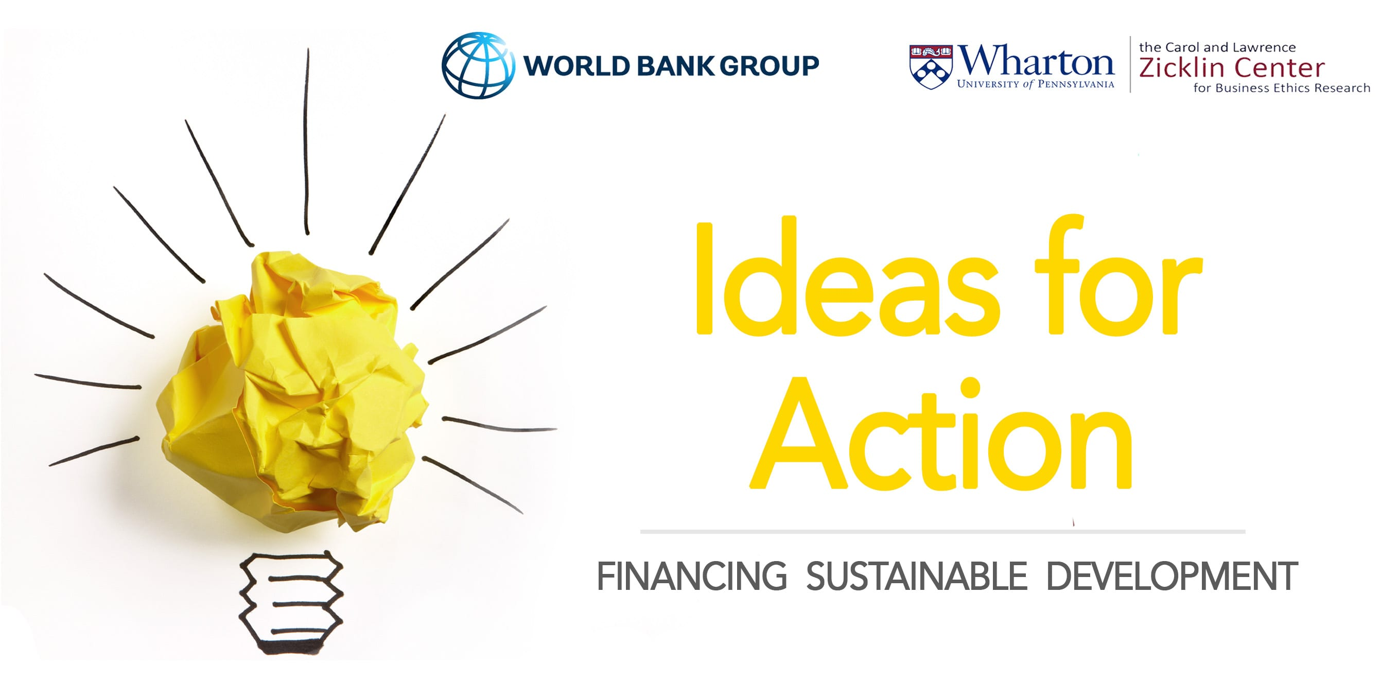 World Bank/Wharton School Concepts for Action Youth Competitors 2019 for trainees & & young specialists