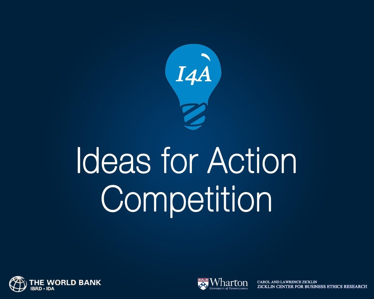 World Bank Group/Wharton School Concepts for Action Competitors 2019