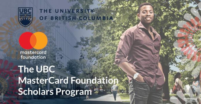 Mastercard Structure Scholars Masters' Degree Program 2019 at University of British Columbia