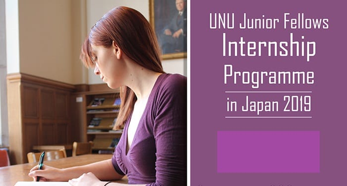 United Nations University Junior Fellows Internship Program at the Workplace of the Rector 2019