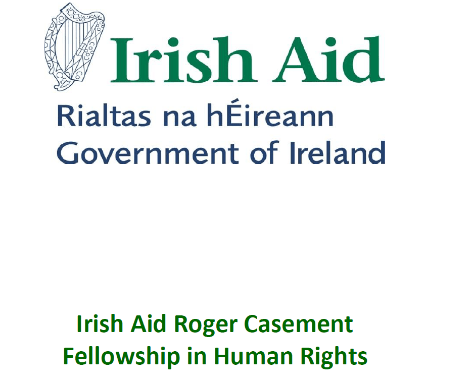 2019/2020 Irish Help Roger Sash Fellowship in Person Rights (Totally Moneyed to study in Ireland)