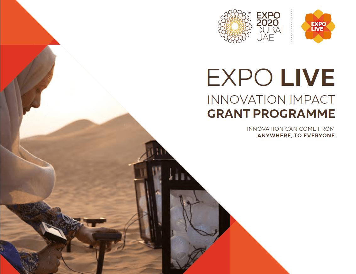 Exposition 2020 Dubai Development Effect Grant Program for social entrepreneurs/SMEs (USD 100,000)