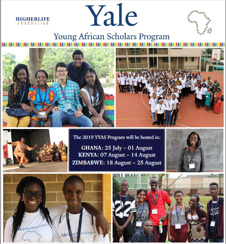 Yale Young African Scholars Program 2019 for African secondary school Trainees (Completely Moneyed)
