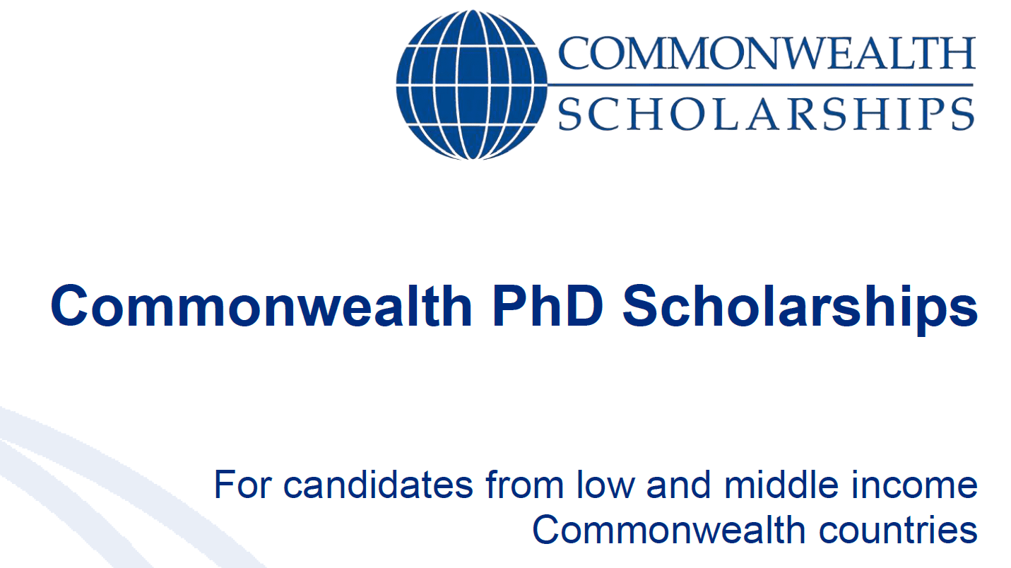 Commonwealth PhD Scholarships 2019 (for low and middle earnings nations) to Research study in the UK (Completely Moneyed)