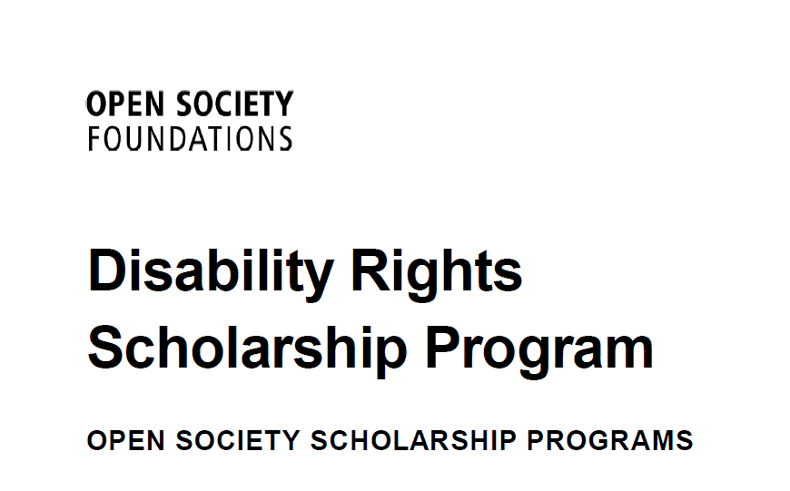 Open Society Structure Special Needs Rights Scholarship Program 2019 for Africans (Moneyed)