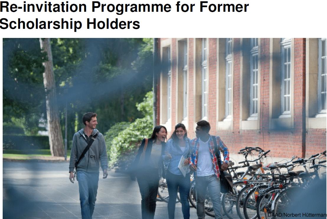2019 DAAD Re-invitation Program for Former Scholarship Holders (Moneyed)