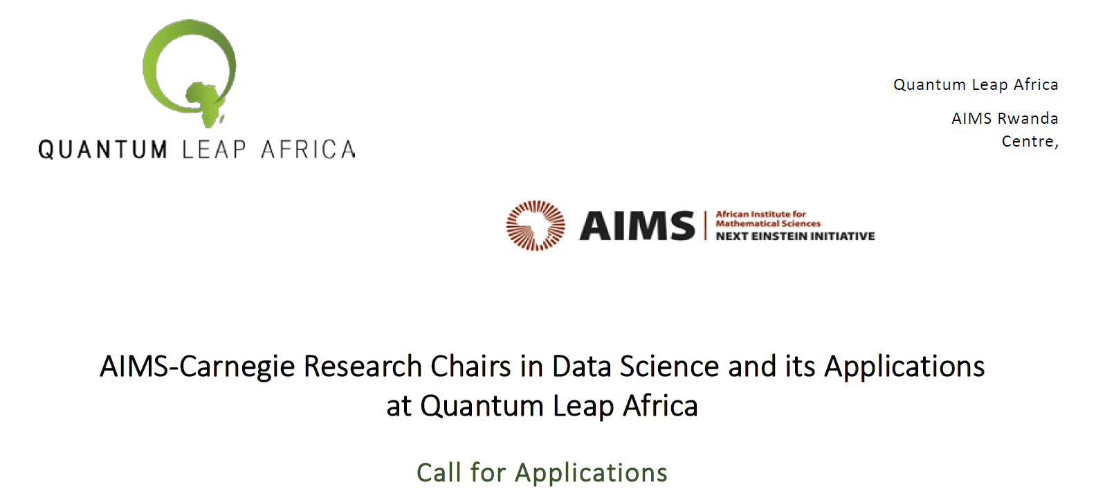 The AIMS-Carnegie Research study Chairs program in Data Science at Radical Change Africa