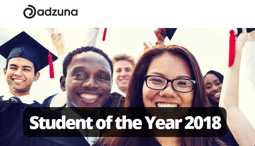 Adzuna Trainee of the Year Award 2018 (₤ 3,500 reward)