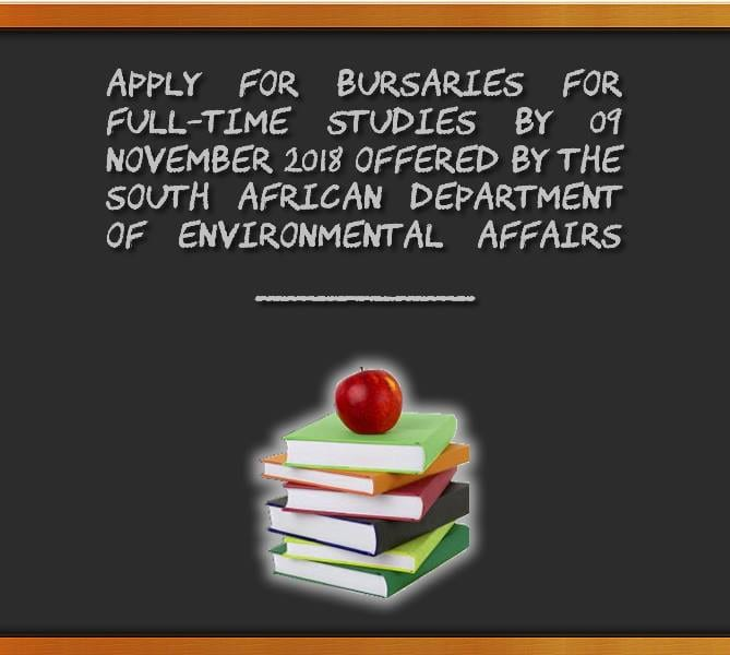 The Department of Environmental Affairs' (DEA) Undergrad & & Postgraduate bursaries 2019 for young South Africans