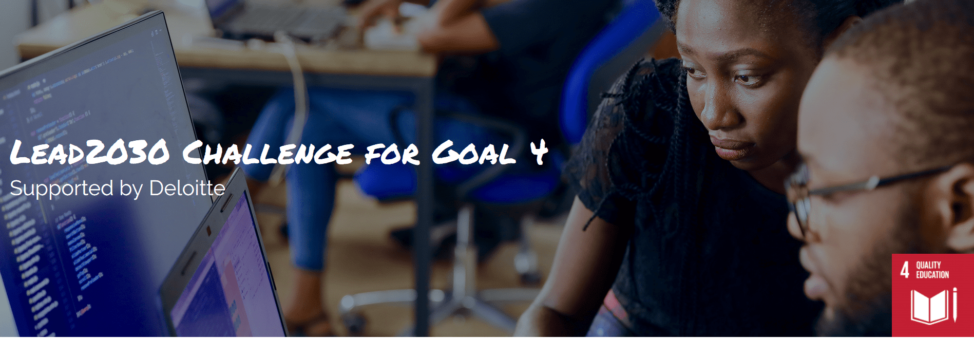 One Young World/Deloitte Lead 2030 Obstacle for SDG Objective 4 ($ USD 50,000 grant)
