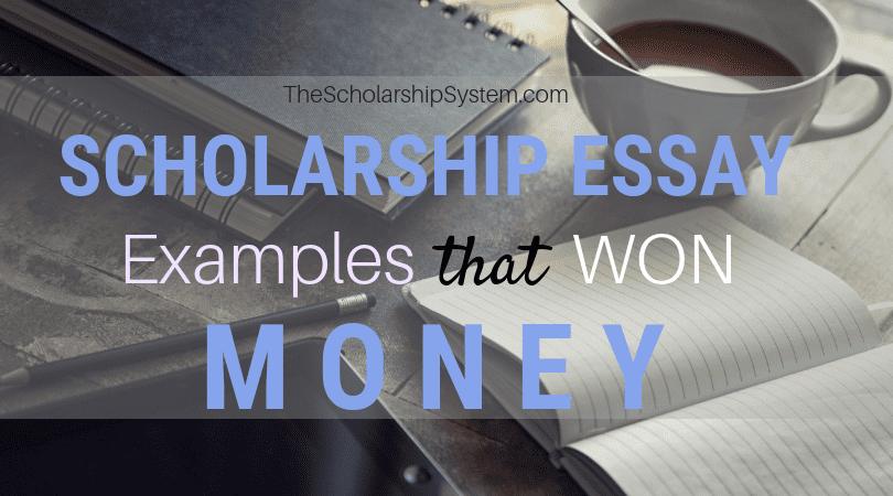 Scholarship Essay Examples That Won Loan
