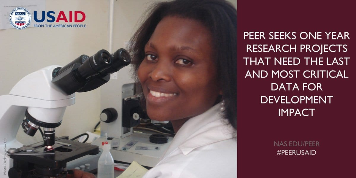 Require Pre-proposals: USAID PEER Program Cycle 8 for Researchers in Establishing Nations (As Much As $80,000)