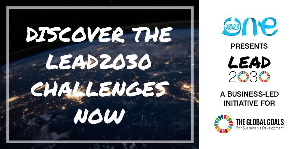 One Young World Lead2030 Obstacles 2019 (Win as much as $50,000 in financing)