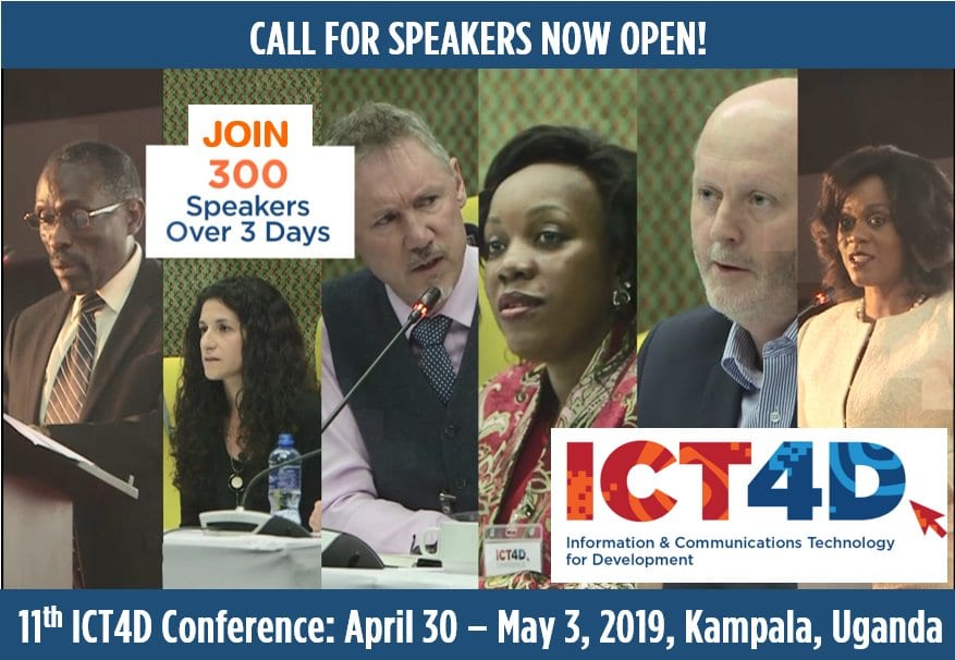 The ICT4D Conference 2019: Require Speakers & & Scholarships– Kampala, Uganda