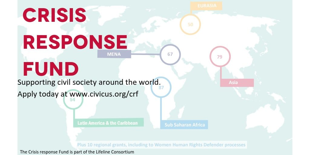 CIVICUS Crisis Action Fund for Civil Society Organisations Worldwide