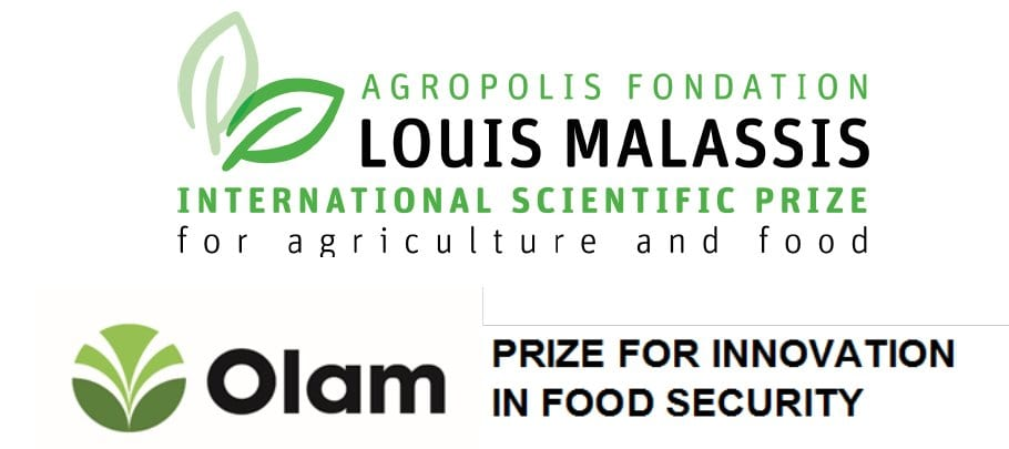 Agropolis Structure Louis Malassis International Scientific Reward for Farming & & Food 2019 and Olam Reward for Development in Food Security