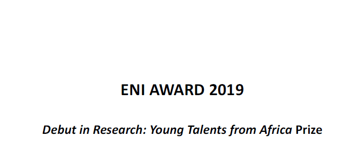 ENI AWARD 2019 Launching in Research Study: Young Skills from Africa Reward