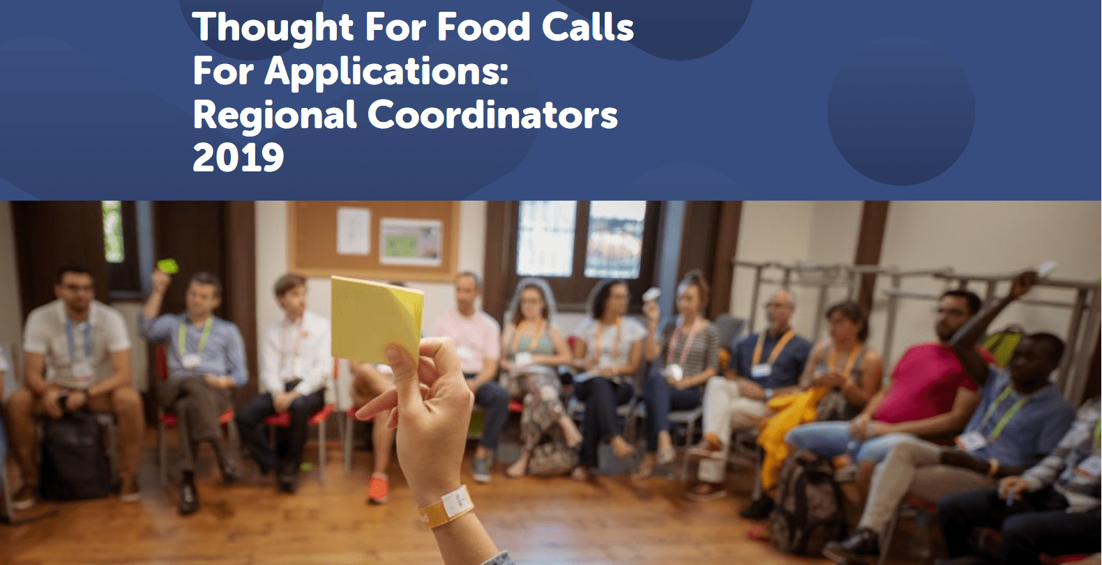 Idea For Food Regional Coordinators Program 2019 for young changemakers