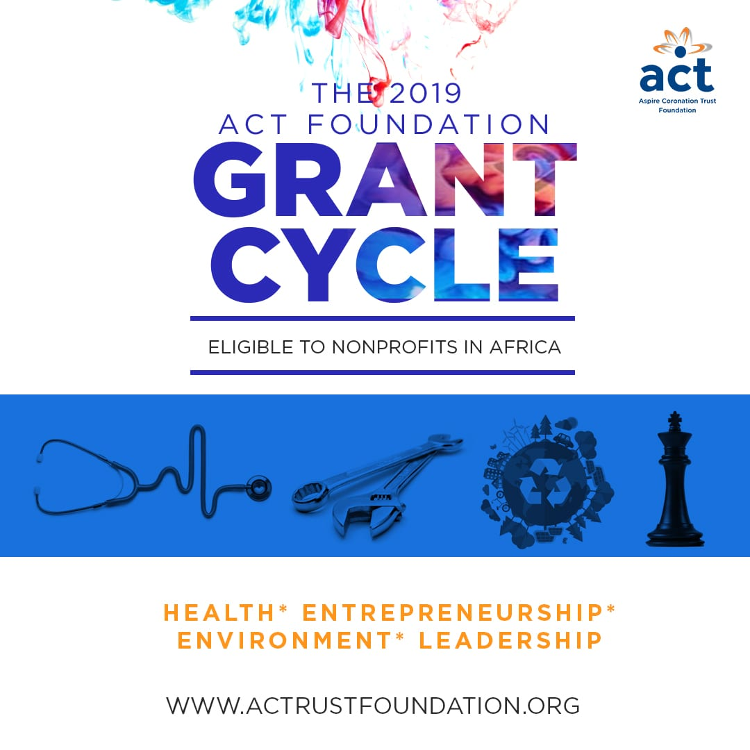 Aim Crowning Trust (ACT) Structure 2019 grant cycle for nonprofits in Africa