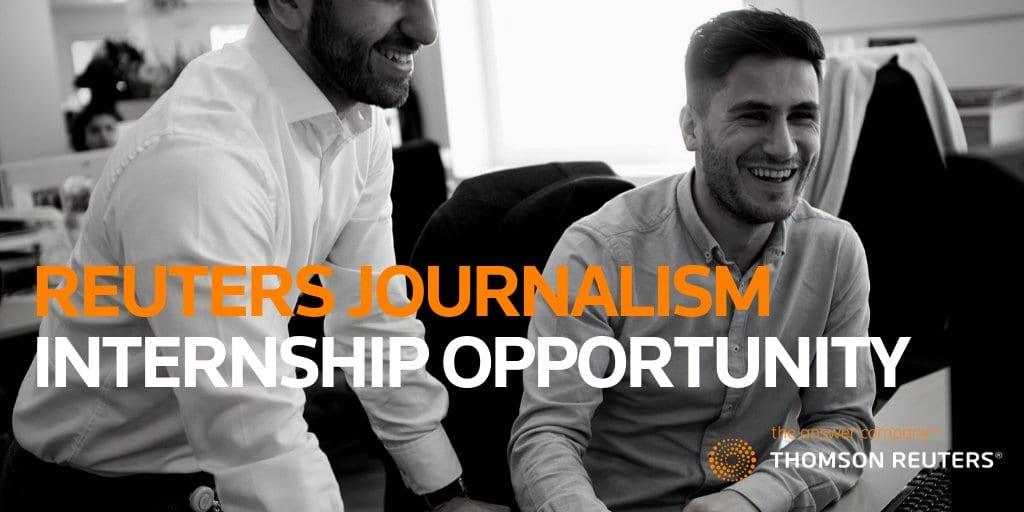 Thomson Reuters Journalism Training Program 2019 (Middle East & & Africa )– Moneyed Training at Reuters, London-United Kingdom