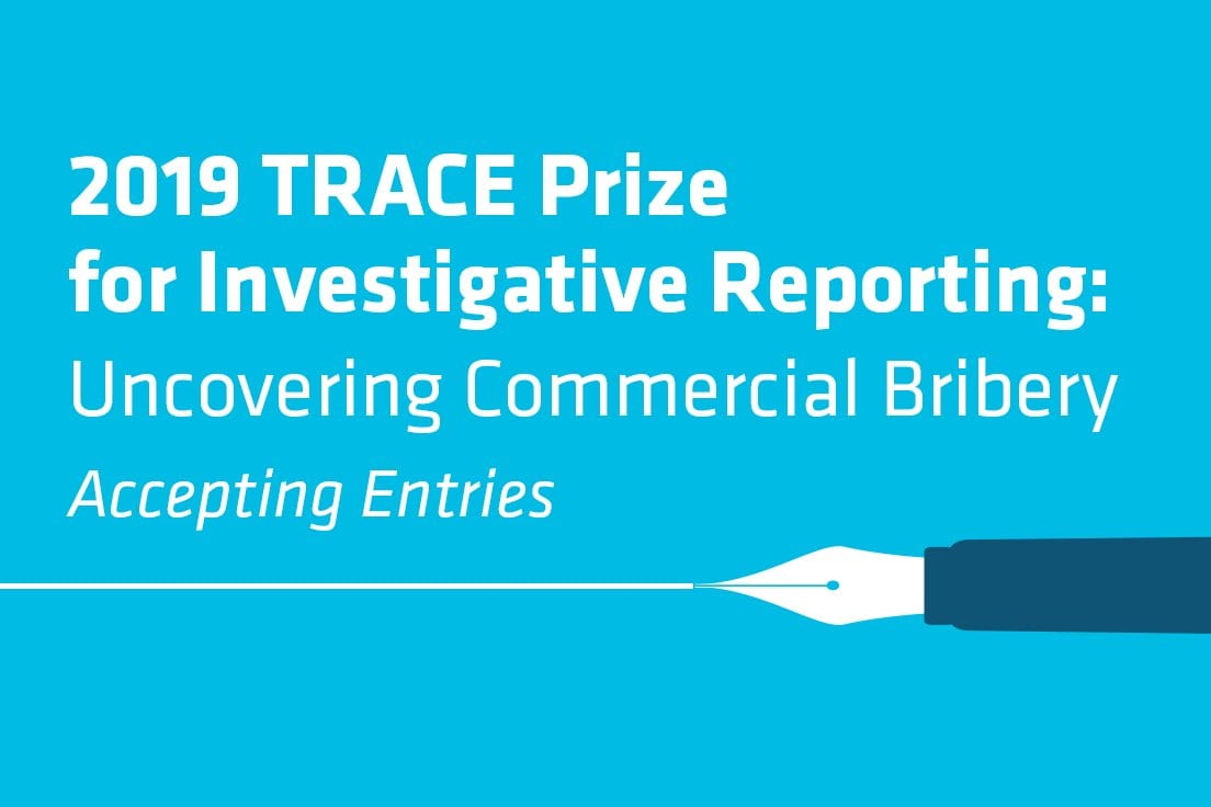 TRACE Reward 2019 for Investigative Reporting– Discovering Business Bribery (win prize money of $10,000 USD)