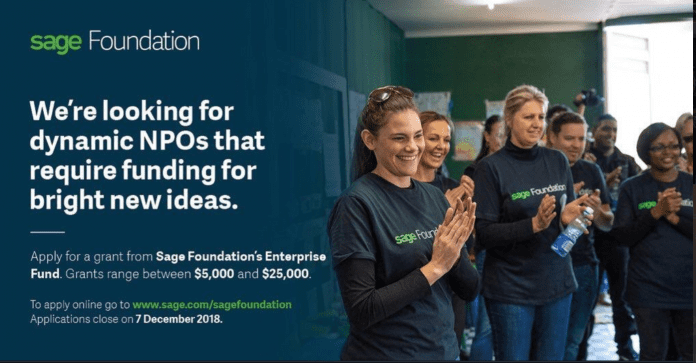 Sage Structure Business Fund for Non-profits 2019 (Approximately $25,000)