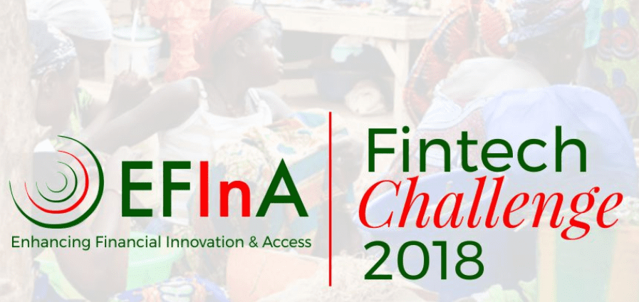 EFInA Fintech Difficulty 2018 for start-up and development phase Fintech Business in Nigeria ($500,000 grant)