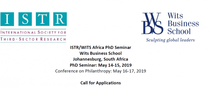 ISTR/WITS Africa PhD Workshop at Wits Service School 2019