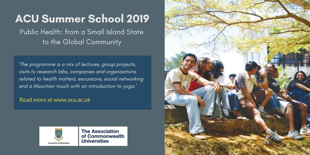 Association of Commonwealth Universities (ACU) Summer Season School 2019 (Bursaries Available)