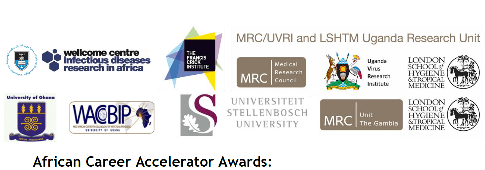 Crick African Network's African Profession Accelerator (CAN ACA) awards 2019 for African Post-Doctoral scientists