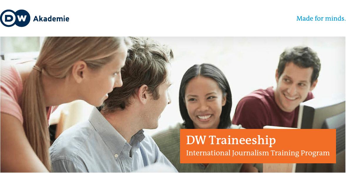 Deutsche Welle International Journalism Traineeship 2019 for Reporters (paid Internships in Berlin and Bonn)