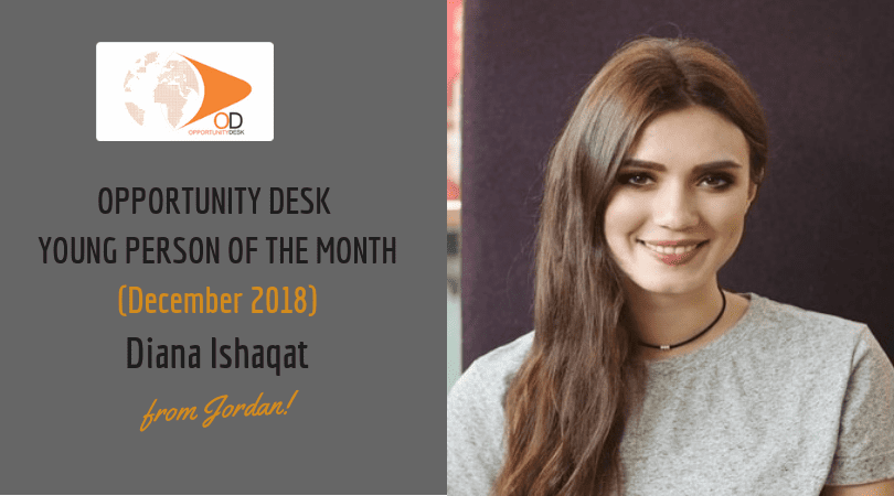 Diana Ishaqat from Jordan is OD Young Adult of the Month for December 2018!