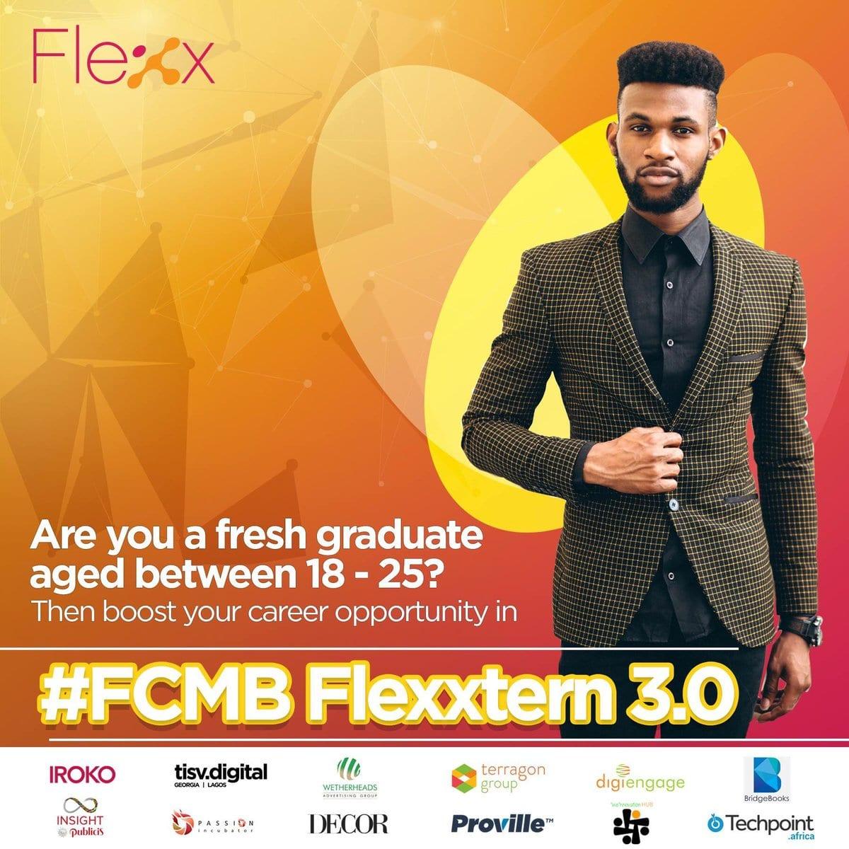 First City Monolith Bank Paid Internship Program #FCMBFlexxtern 2018 for young Nigerians