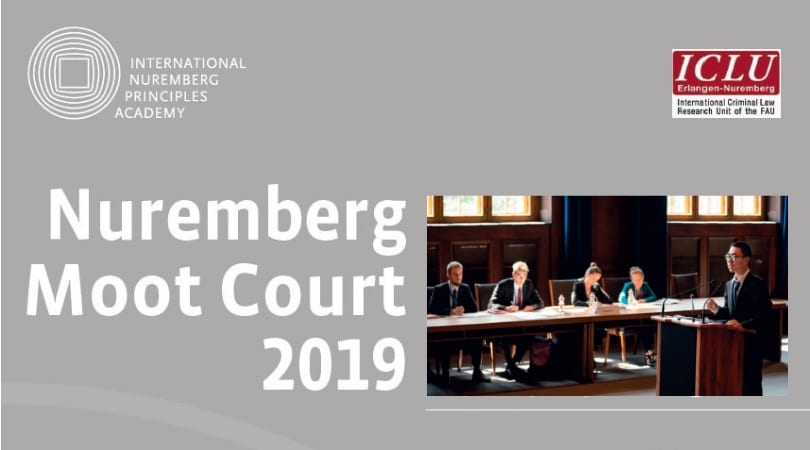 Nuremberg Moot Court 2019 for Law Trainees– Nuremberg, Germany (Financing Available)