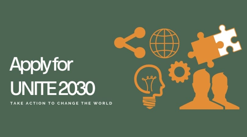Apply to participate in UNITE 2030 Top 2019 for Young Worldchangers