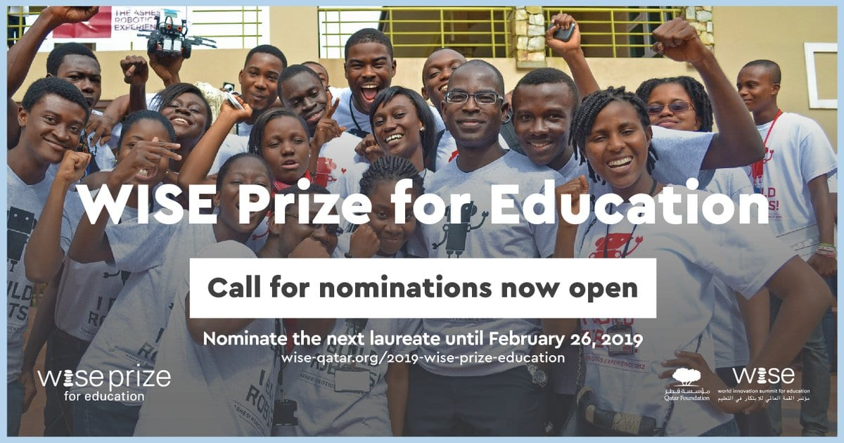 SENSIBLE Reward for Education 2019 for Exceptional Education Leaders (Fully-funded to Doha, Qatar + United States $500,000)
