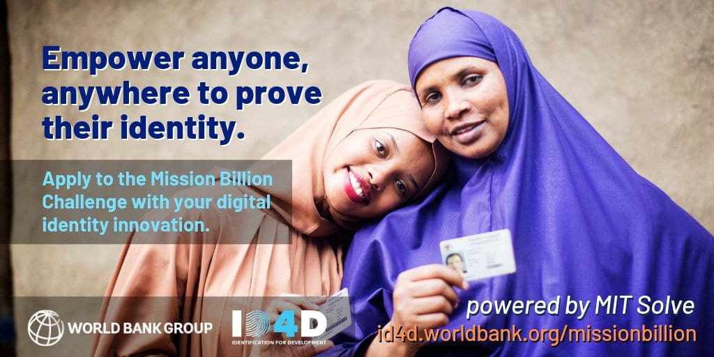 WorldBank Group ID4D Objective Billion Obstacle 2019 ($100,000 Prize money)