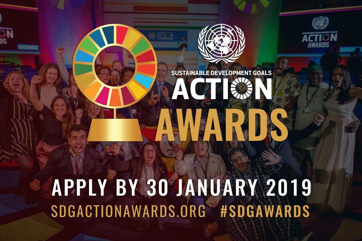 UN SDG Action Awards 2019 for modification representatives around the world