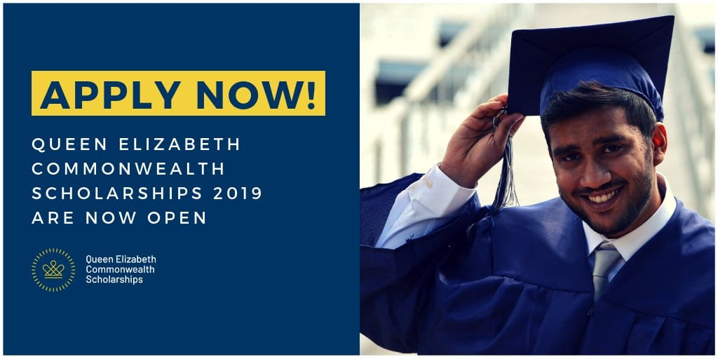 Queen Elizabeth Commonwealth Scholarships Plan 2019 for trainees in Commonwealth Nations (Completely Moneyed)