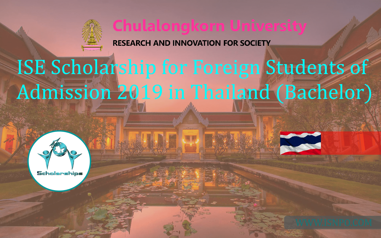 ISE Scholarship for Foreign Trainees of Admission 2019 in Thailand