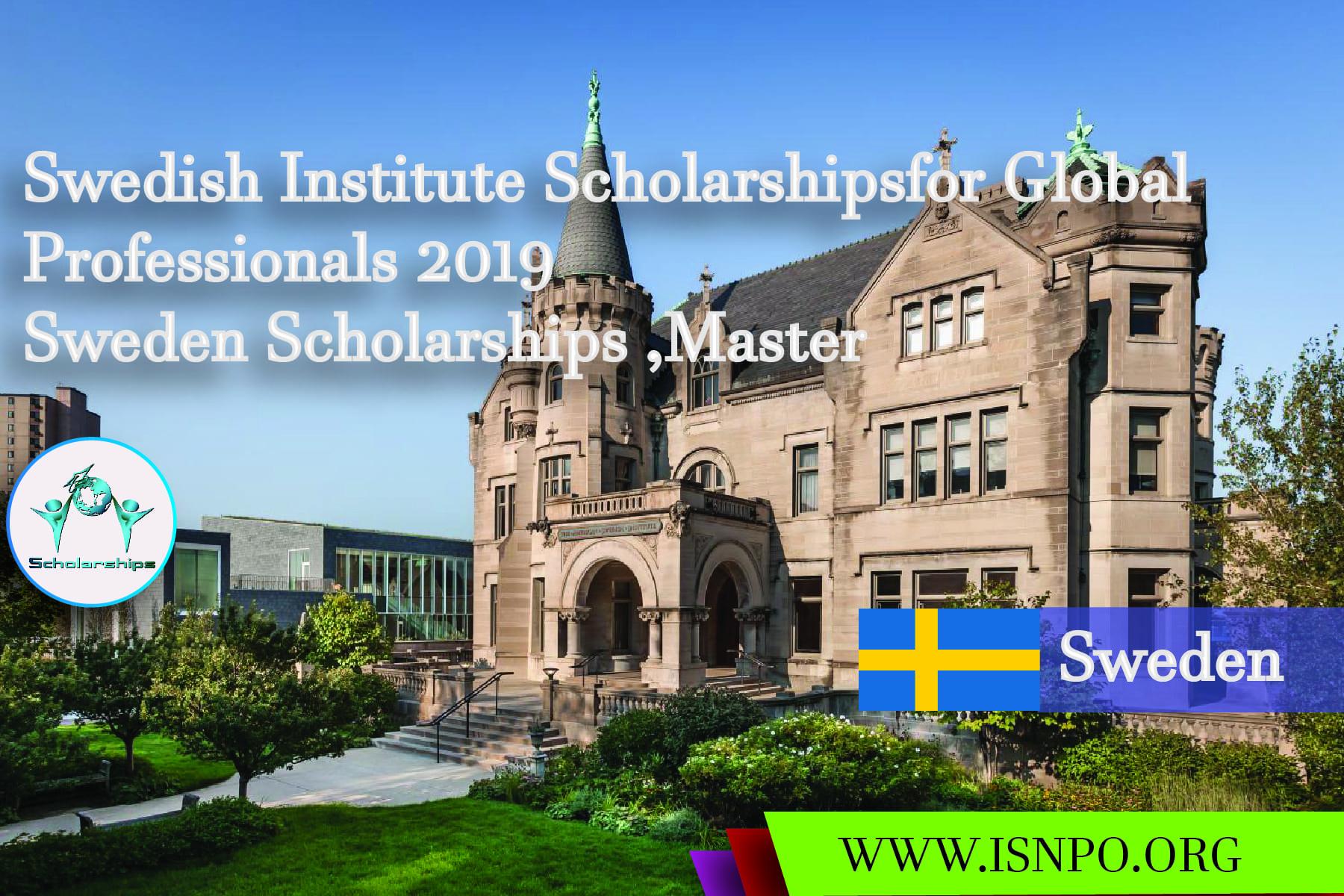 Swedish Institute Scholarships for Global Professionals 2019– Sweden Scholarships