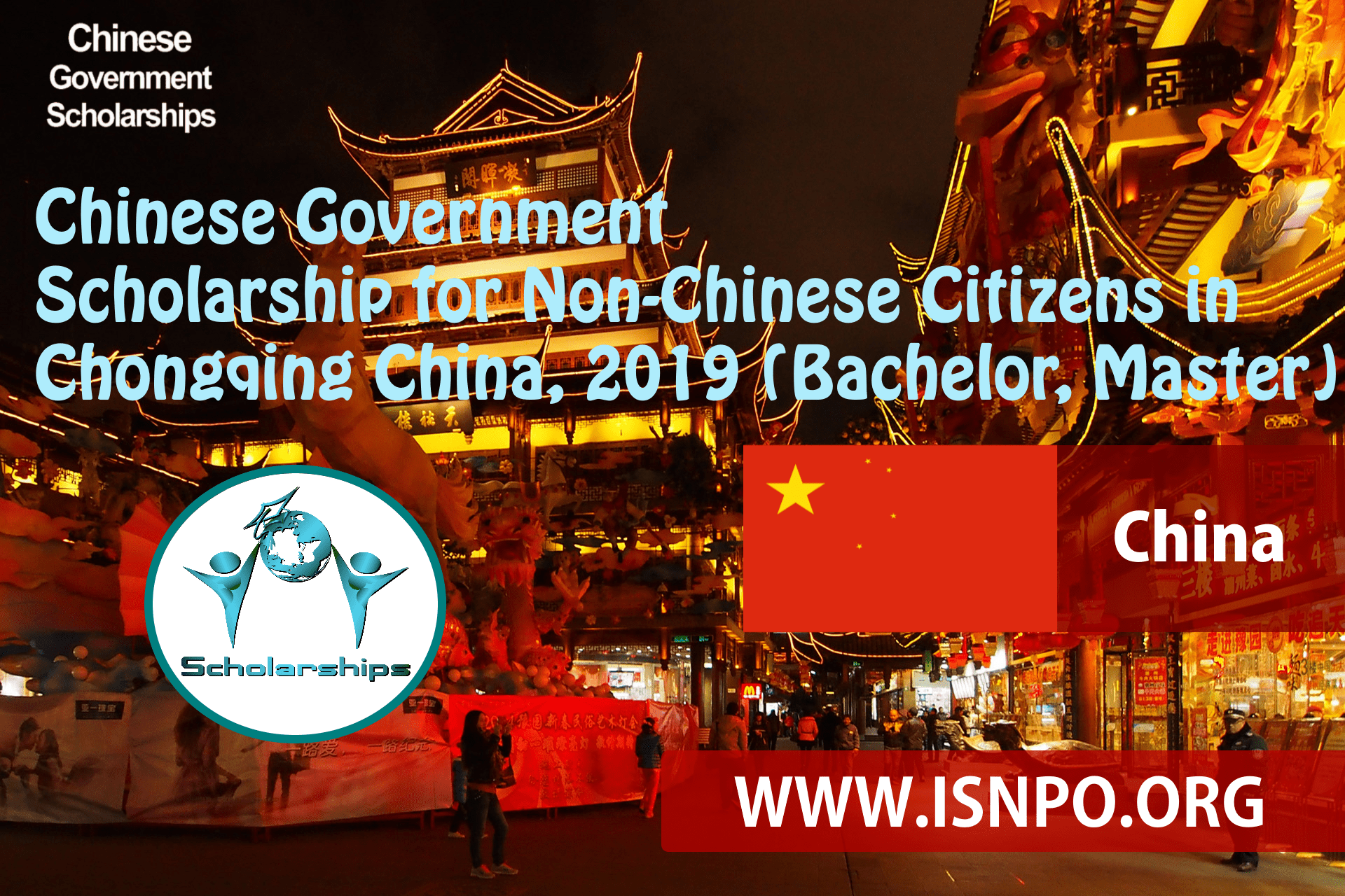 Chinese Federal Government Scholarship for Non-Chinese People in Chongqing China, 2019