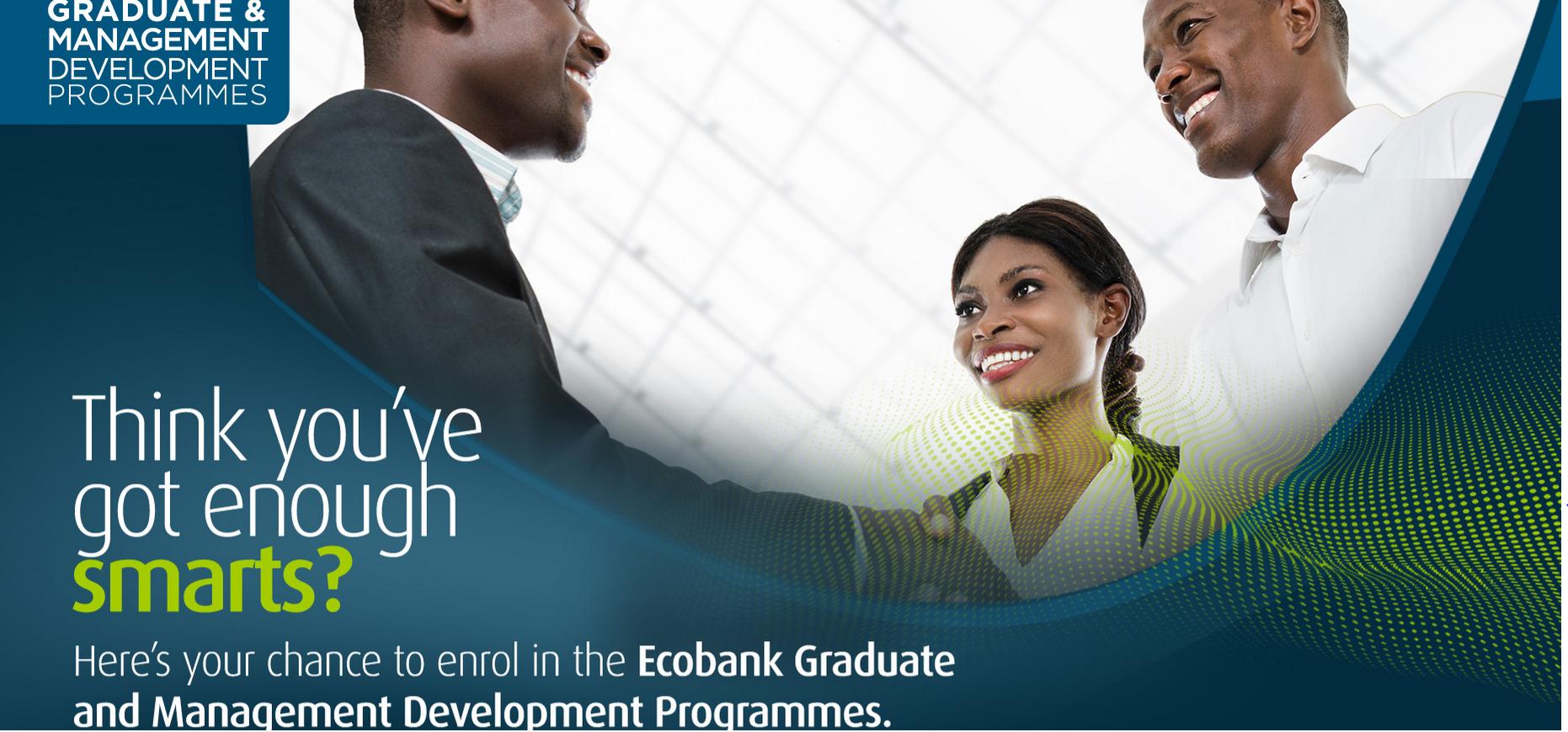 Ecobank Management/Graduate Advancement Program (EMDP) 2019 for young specialists