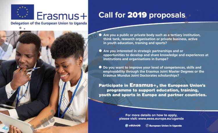 Delegation of the European Union to Uganda Erasmus Joint Masters Degrees Scholarships 2019 for Ugandans