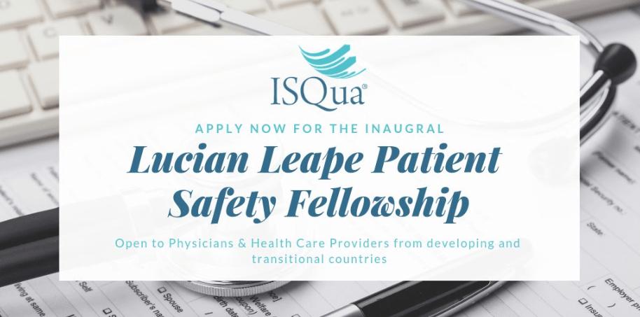 ISQua Lucian Leape Client Security Fellowship Program 2019
