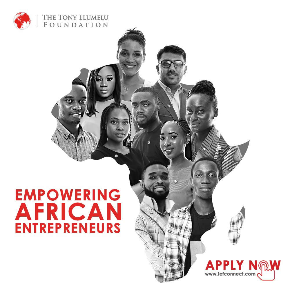 Tony Elumelu Structure Entrepreneurship Program (TEEP) 2019 for young African Business owners (fifth Cycle of $100 m Entrepreneurship Program)